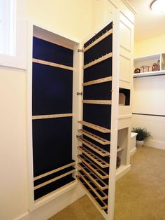 Hidden jewelry closet behind a full length built-in mirror! I need this! by Macarena Kreps