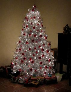 silver christmas trees | Our silver Christmas Tree | Flickr - Photo Sharing!