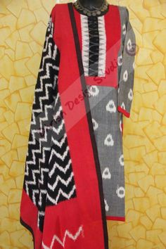 Kurti Dress Suits, Dress Tops, Neck Patterns For Kurtis, Salwar Pattern, Ikkat Dresses, Kurti Neck, Tie Dye Dress, Kurta Designs, Indian Designer Wear