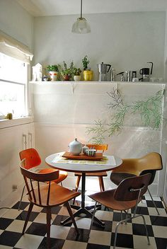 Table in a kitchen