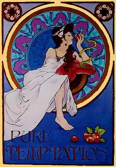 Gorgeous art nouveau-inspired illustration.