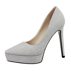 JNTworld Stiletto Prom Absatz Court Hochzeit Glitter Plateau Pumps, 35, Weiß - http://on-line-kaufen.de/jntworld/35-eu-jntworld-stiletto-prom-absatz-court-glitter-8