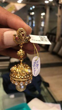 Gold Jewelry Store Near Me Product Pakistani Jewelry, Silver Jewellery Indian, Indian Wedding Jewelry, Silver Jewelry, Gold Jewellery, Gold Jhumka Earrings, Gold Earrings Designs, Indian Earrings, Jewellery Designs