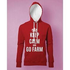 Stampa Felpa Donna #chesterton #frassati #distributismo # KEEP CALM AND GO FARM