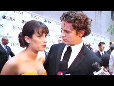 Tonys 2010 Red Carpet: Lea Michele & Jonathan Groff - YouTube