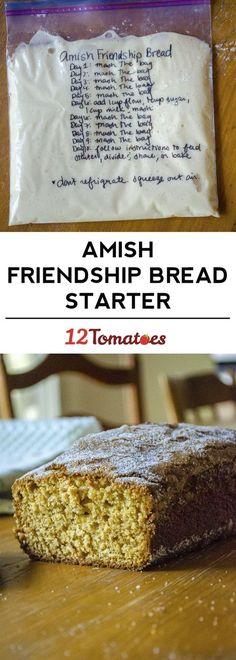 New Ideas Bread Recipes Amish Baking Friendship Bread Recipe, Friendship Bread Starter, Amish Friendship Bread, Dutch Recipes, Bread Recipes, Cooking Recipes, Sourdough Recipes, Starter Recipes, Cooking Bacon