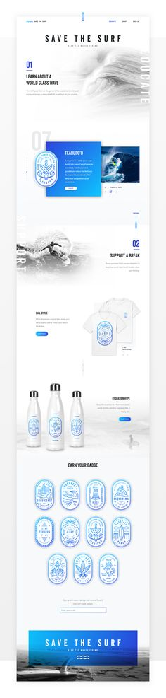Design by diamond save the surf web design 1x