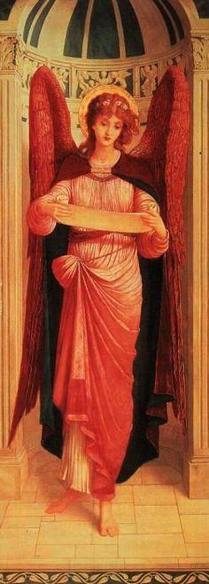 An Angel by John Melhuish Strudwick :: artmagick.com