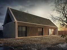 Single family house near Rzeszow. Project and viz.: author