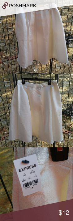 Express Nwt Lined knee length skirt Just wouldn't fit me. No issues Express Skirts Midi