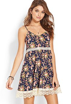 Dreamland Tiered Floral Dress | FOREVER21 - So cute! I would so wear this year round