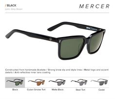 e1160eacc1 Wayfarer inspired look that s timeless   edgy. Spy Mercer Sunglasses -  Asian Fit - Black   Grey - Part of the Spy Crosstown Collection