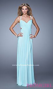 Buy Floor Length La Femme Prom Dress with Beaded Back at PromGirl