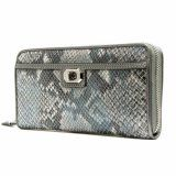Coach 50021 Campbell Exotic Leather Accordion Zip Around Wallet