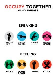 Occupy Together hand signals.  Occupy movement - Wikipedia, the free encyclopedia