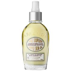 """L'OCCITANE Almond Smoothing and Beautifying Supple Skin Oil: """"This is probably the best product I have ever owned. The smell is out of this world! It works great on the face and the body. I use it everyday before applying my foundation or BB cream and it doesn't stick or stay too oily."""" -Elisopet"""