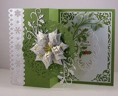 IC572 Poinsettia Z-fold Card_lb by Clownmom - Cards and Paper Crafts at Splitcoaststampers