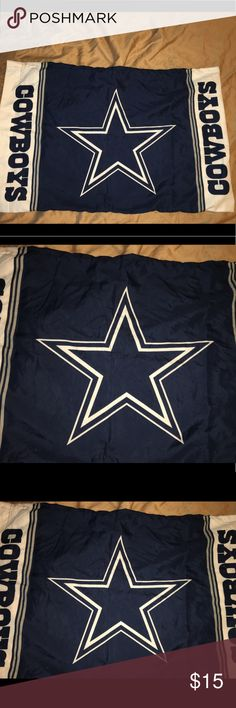 """Dallas Cowboys pillowcase 30""""x20"""" #CowboysNation Thank you for viewing my listing, for sale is a Dallas Cowboys, standard size, 30"""" x 20"""", blue, gray, and white, pillowcase. Pillowcase is in great condition with no rips or stains. If you have any questions or would like additional photos please feel free to ask. NFL Accessories"""