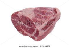 chuck steak on white background