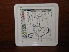 #2  Heart Zentangle/Zendangle Plate