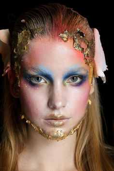 Gold flakes and colors Makeup by Lan Nguyen-Grealis