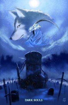Artorias and Sif  -  Dark Souls