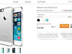 It seems a little strange that websites are offering pre-orders for iPhone 6 cases. The phone hasn't been announced yet, so there's no way of knowing the phone's colors, dimensions, or if it will even need a case.