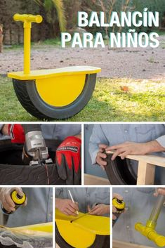 how to reuse and recycle tires for kids toys Más Tire Playground, Outdoor Playground, Diy Outdoor Toys, Outdoor Fun, Backyard For Kids, Diy For Kids, Wooden Christmas Crafts, Tyres Recycle, Kids Play Area