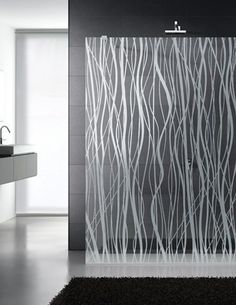 Patterned Shower Screen | KitchAnn Style