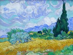 Van Gogh, Wheatfield with Cypresses