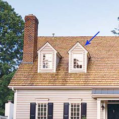 Gablets are the small gables often found over a single dormer window. Window Jamb, Roof Window, Residential Skylights, Roof Styles, House Styles, Skylight Window, Home Structure, Dormer Windows, Gable Roof