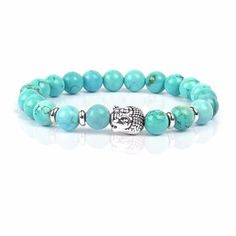 Buddha Natural Stone Beaded Energy Bracelet (in 2 Styles)