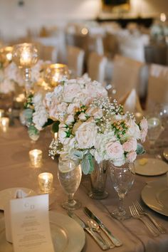 Classic gold and pastel wedding decor {Photo by Nancy Aidee Photography via Project Wedding}