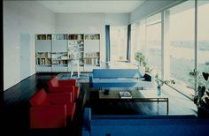 Afbeelding van woning Van den Doel, ca.1958, interieur woonkamer