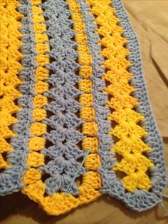 A mile a minute afghan.