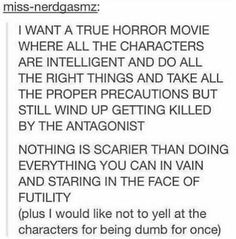 I don't like horror but this would be interesting