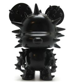"""Mini Qee 5"""" Spike Bear Black......I love collecting these bears or figuring, after seeing one in top's room from Big Bang my interest grew with these collectables.  So cool looking when they come."""