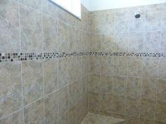 Texas Beige wall tile with mini mosaic #3 listello