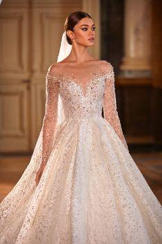 Most Beautiful Wedding Dresses, Popular Wedding Dresses, Wedding Dresses For Girls, Princess Wedding Dresses, Sparkly Wedding Dresses, Bridal Gowns, Wedding Gowns, Wedding Gown Ballgown, Wedding Dress Sleeves
