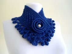 Your place to buy and sell all things handmade Crochet Flower Scarf, Crochet Scarfs, Crochet Flowers, Hand Crochet, Hand Knitting, Handmade Gifts For Her, Knit Fashion, Cowls, Wool Yarn