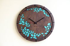 Modern Wall Clock Tree leaves Large Wall Clock от Lines4room
