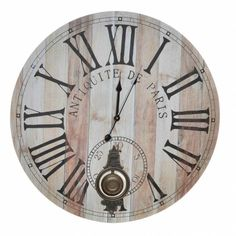 Clock, Paris, Metal, Wall, Home Decor, Desk Clock, Tree Hut Watches, Gears, Natural Wood