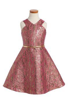 24aef7d82d0f BLUSH by Us Angels Jacquard Fit & Flare Dress (Big Girls) | Nordstrom