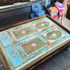 #Antique Furniture #Rustic Furniture  #coffeetable #indiantable #livingroom # antiquefurniture  http://www.houzz.com/photos/54169657/Consigned-Blue-Hand-Carved-Old-Spanish-Style-Antique-Coffee-Table-traditional-coffee-tables