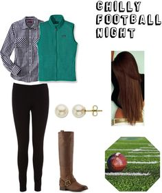 ❤ by sassy-prep featuring fine jewelry ❤ liked on PolyvoreMerona  / Oasis stretch pants, $22 / Patagonia  / Lucky leather boots / Lord  Taylor fine jewelry / Football Field 12 x 12 Paper