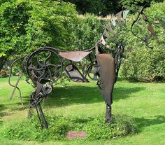 Scrap Metal Garden Art | Scrap iron sculpture | Flickr - Photo Sharing!