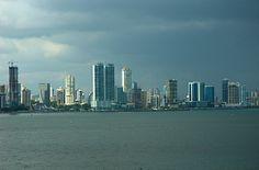 Storm over Panama City