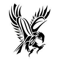 Tribal Abstract Hawk Tattoo Design Tattoowoocom