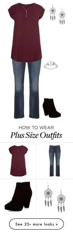 """Plus size"" by jessiemt on Polyvore featuring Silver Jeans Co., New Look and Ice"