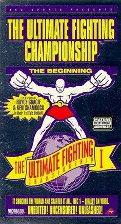 Poster do UFC 1: The Beginning, o primeiro evento de artes marciais mistas organizado pela UFC. Royce Gracie, vencedor.